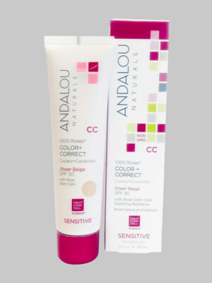 Andalou Naturals 1000 Roses Color + Correct Sheer Beige SPF 30