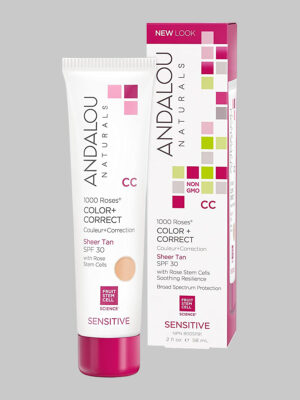 Andalou Naturals 1000 Roses Color + Correct Sheer Tan SPF 30
