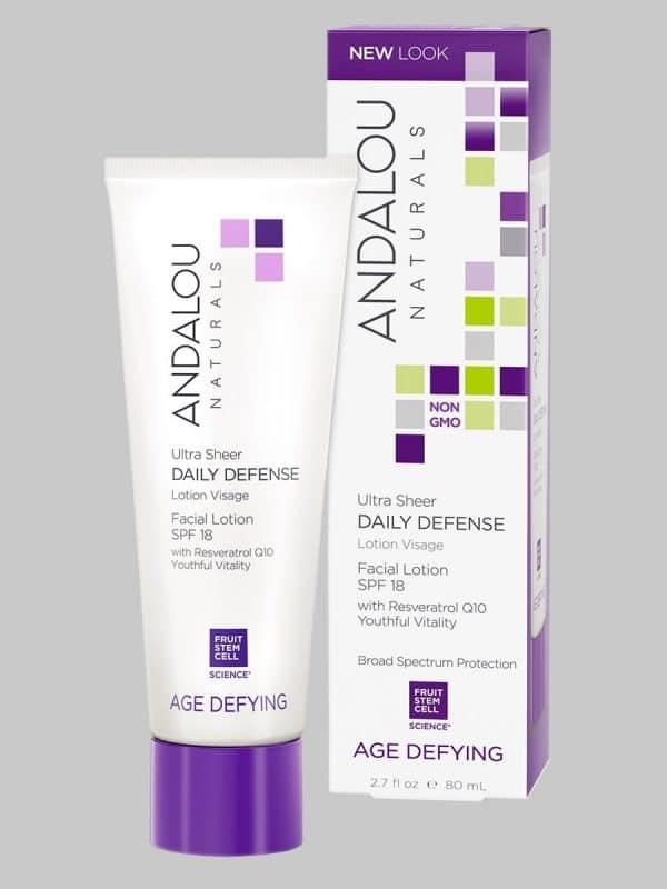 Andalou Naturals Ultra Sheer Daily Defense Facial Lotion SPF 18