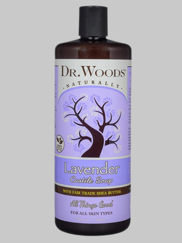 Dr. Woods Castile Soap Lavender with Fair Trade Shea Butter