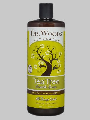 Dr. Woods Castile Soap Tea Tree with Fair Trade Shea Butter