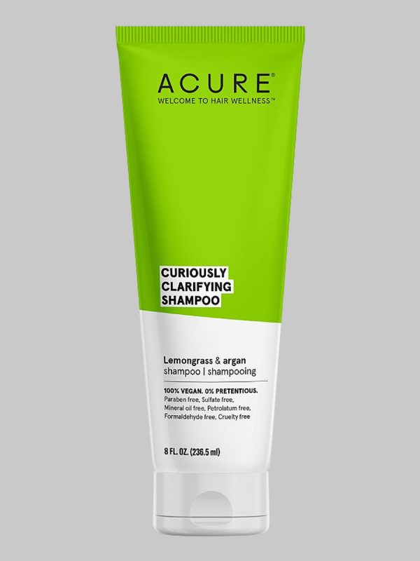 Acure Curiously Clarifying Lemongrass & Argan Shampoo 8 oz