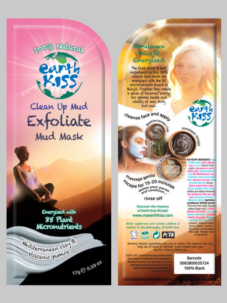 Earth Kiss Clean Up Mud Exfoliate Mud Mask