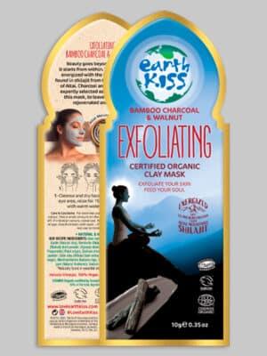 Earth Kiss Bamboo Charcoal & Walnut Exfoliating Clay Mask