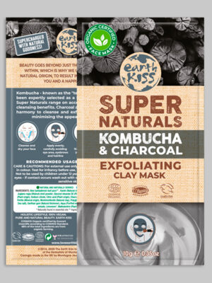 Earth Kiss Kombucha & Charcoal Exfoliating Clay Mask