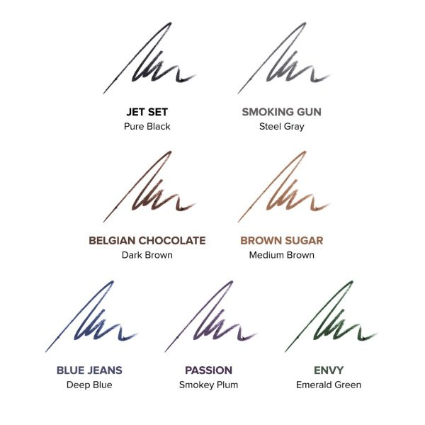 HBG Effortless Eye Liner color chart