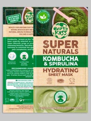 Earth Kiss Kombucha & Spirulina Hydrating Sheet mask