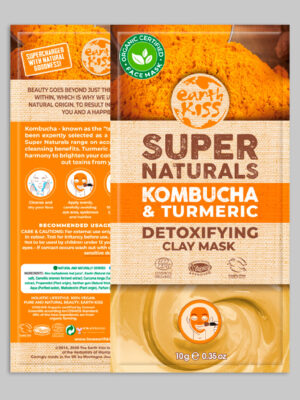 Earth Kiss Kombucha & Turmeric Detoxifying Clay Mask