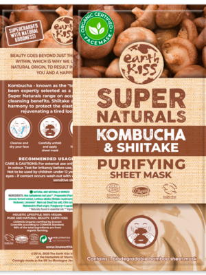Earth Kiss Kombucha & Shiitake Purifying Sheet Mask