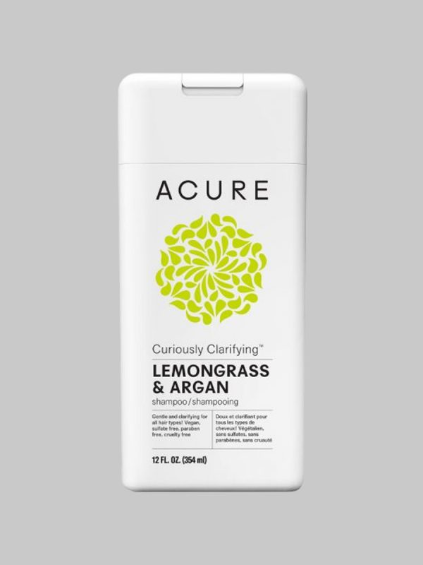 Acure Curiously Clarifying Lemongrass & Argan Shampoo