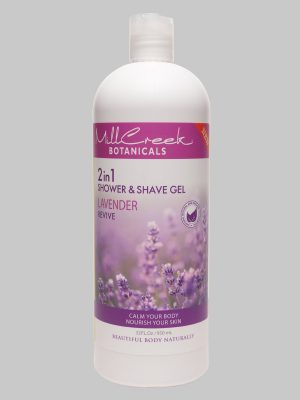 Mill Creek 2 in 1 Shower & Shave Gel Lavender 32 oz
