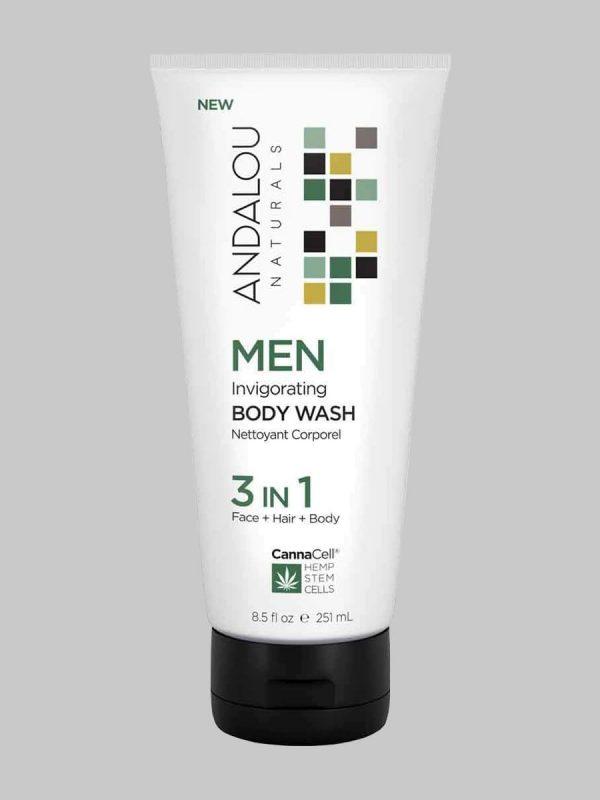 Andalou Naturals MEN Invigorating Body Wash 3 IN 1