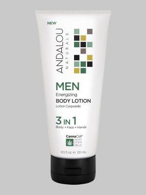 Andalou Naturals MENEnergizing Body Lotion 3 IN 1