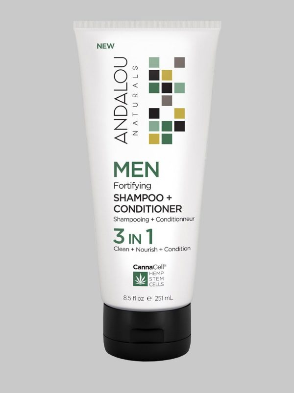 Andalou Naturals MEN Fortifying Shampoo + Conditioner 3 IN 1