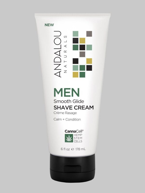 Andalou Naturals MEN Smooth Glide Shave Cream
