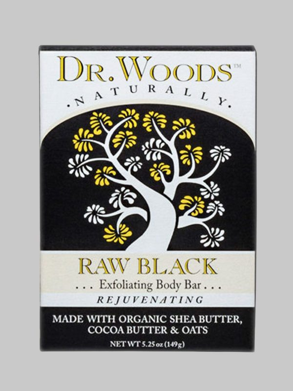 Dr. Woods Body Bar Soap Raw Black