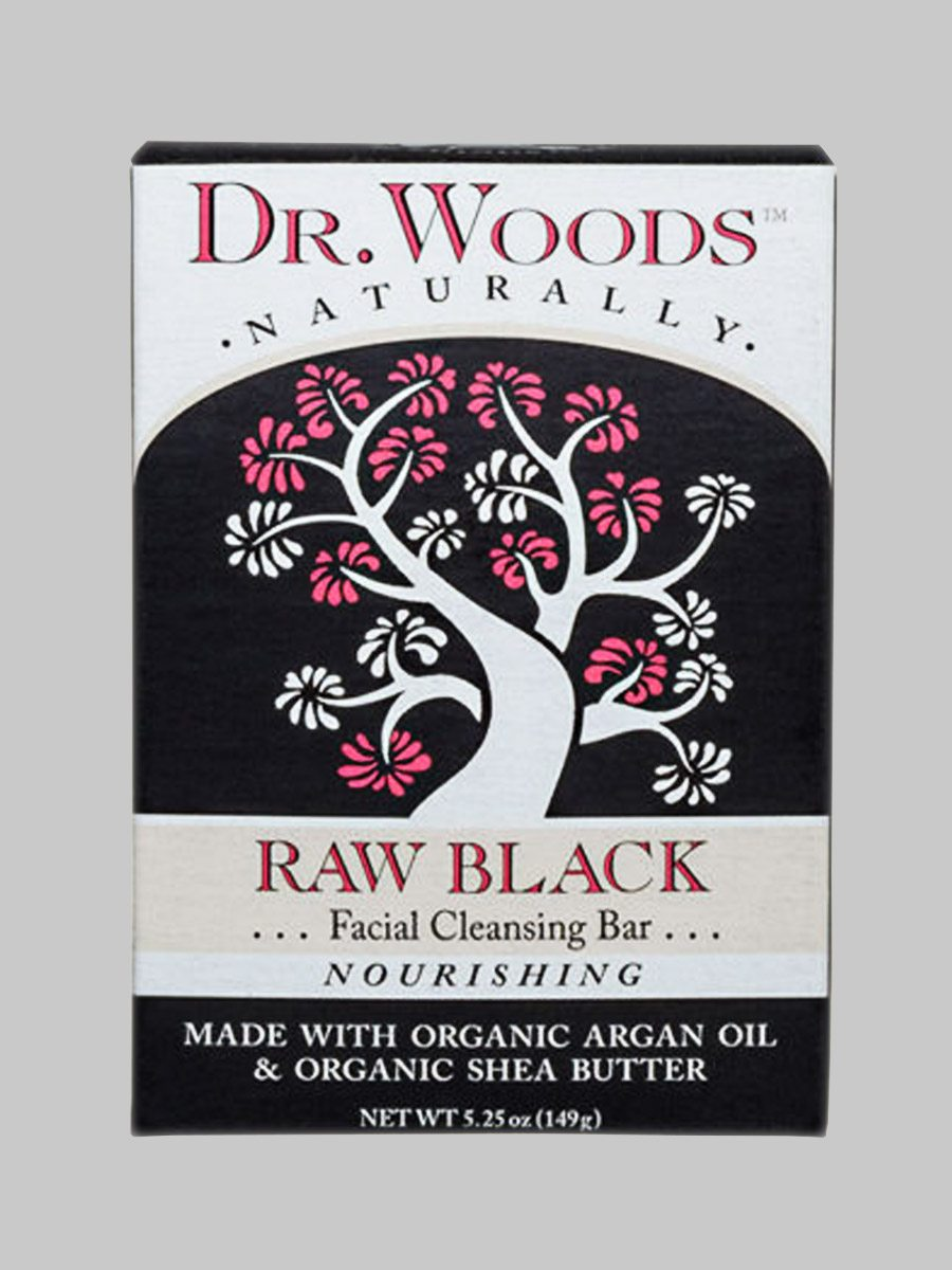 Dr. Woods Facial Cleansing Bar Soap Raw Black